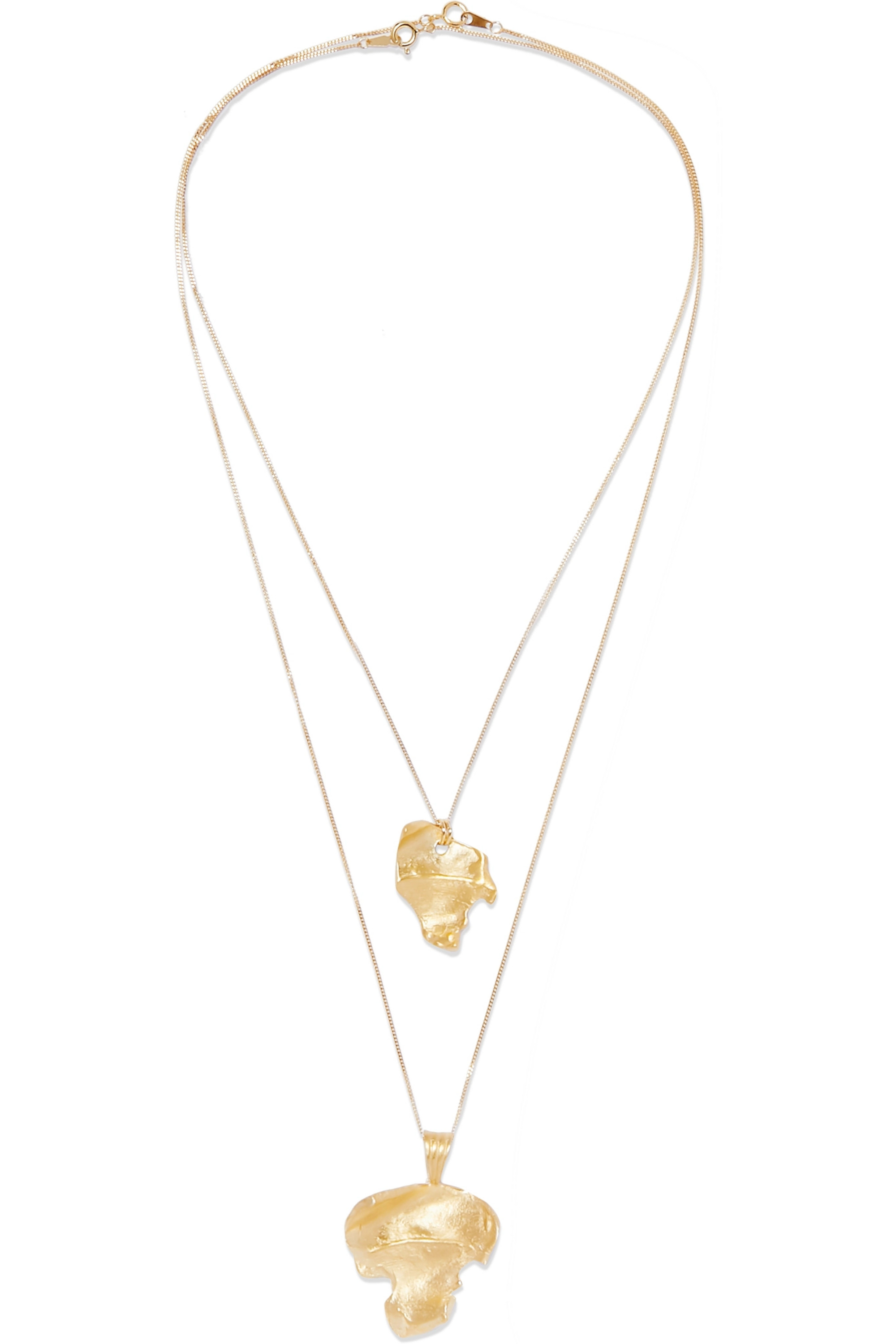 1064 Studio Silence 14 set of two gold-plated necklaces