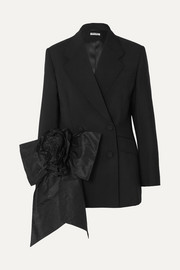 Miu Miu Bow-embellished mohair and wool-blend blazer
