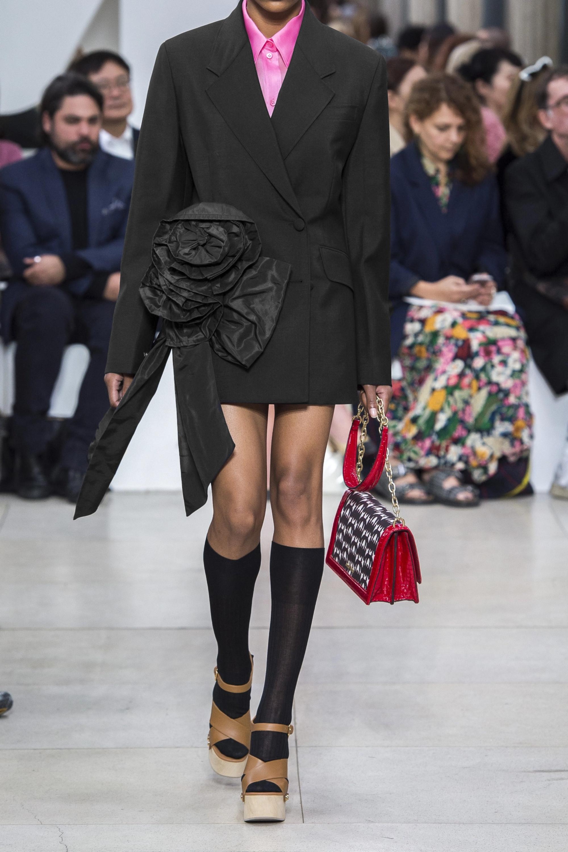 Miu Miu Bow-embellished mohair and wool-blend blazer