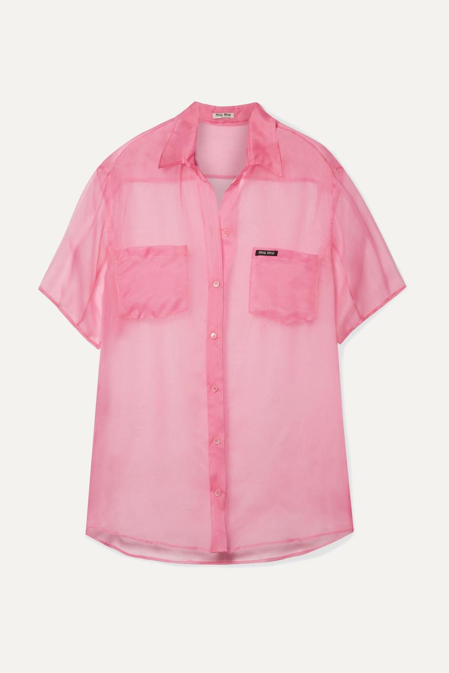 Miu Miu Oversized silk-organza shirt