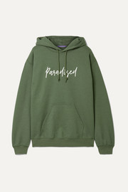 Paradised Palms printed cotton-jersey hoodie