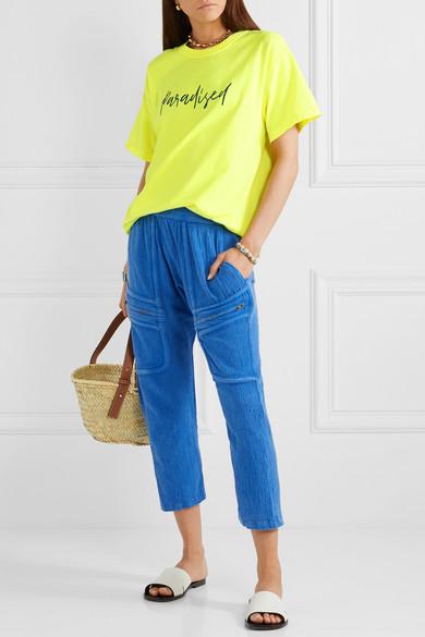 Jersey En A Fluo De ParadisedT Shirt Coton Net À Broderies zLSqUMGVp