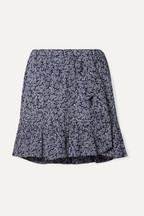 bdd22c96ed MICHAEL Michael Kors Ruffled printed crepe mini skirt