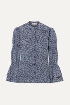 1a025d03f9 MICHAEL Michael Kors Ruffled printed crepe blouse