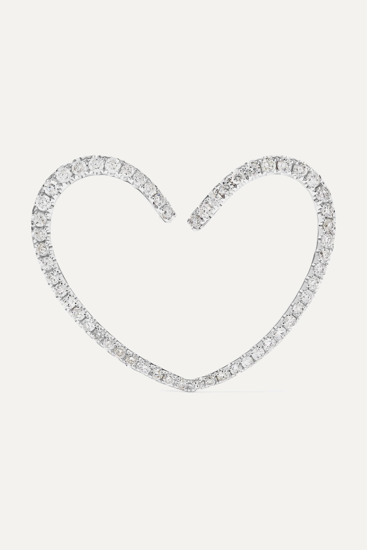 Yvonne Léon Ohrring aus 18 Karat Weißgold mit Diamanten