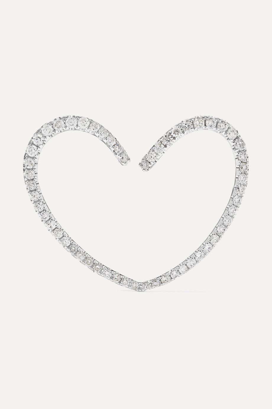 Yvonne Léon 18-karat white gold diamond earring