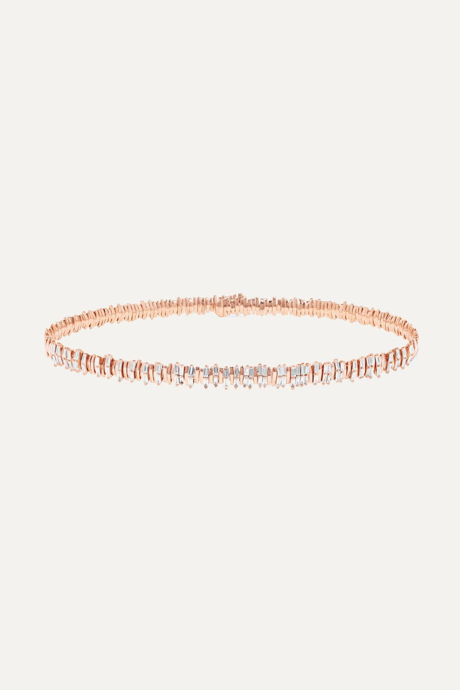 Suzanne Kalan 18-karat rose gold diamond choker