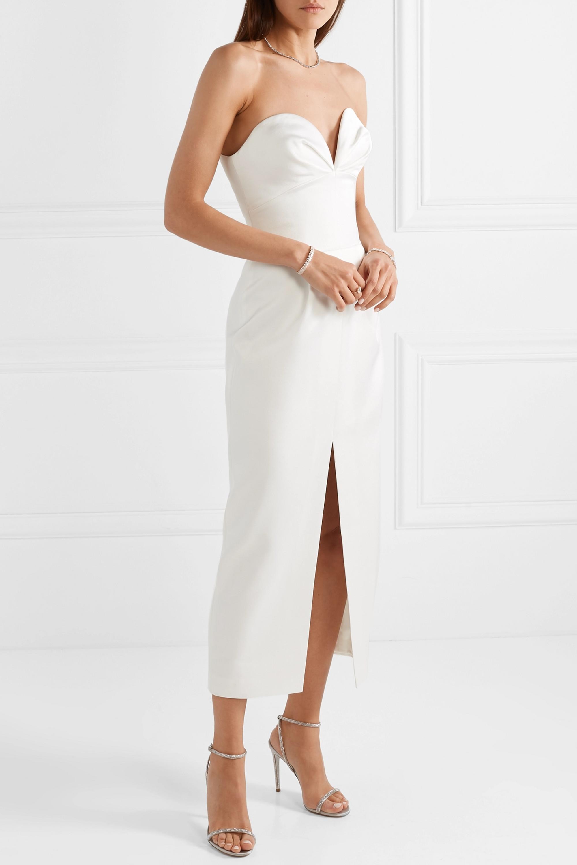 RASARIO Strapless satin gown