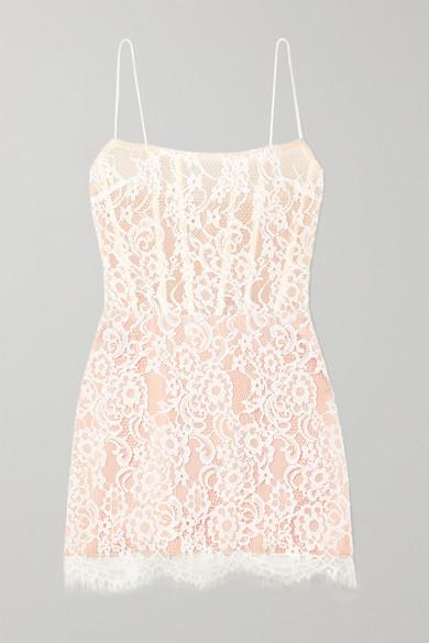 9d9d57cc942e Rasario   Lace and tulle mini dress   NET-A-PORTER.COM
