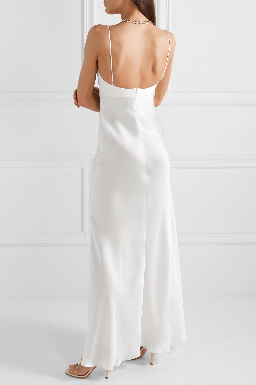 RASARIO Silk-satin gown