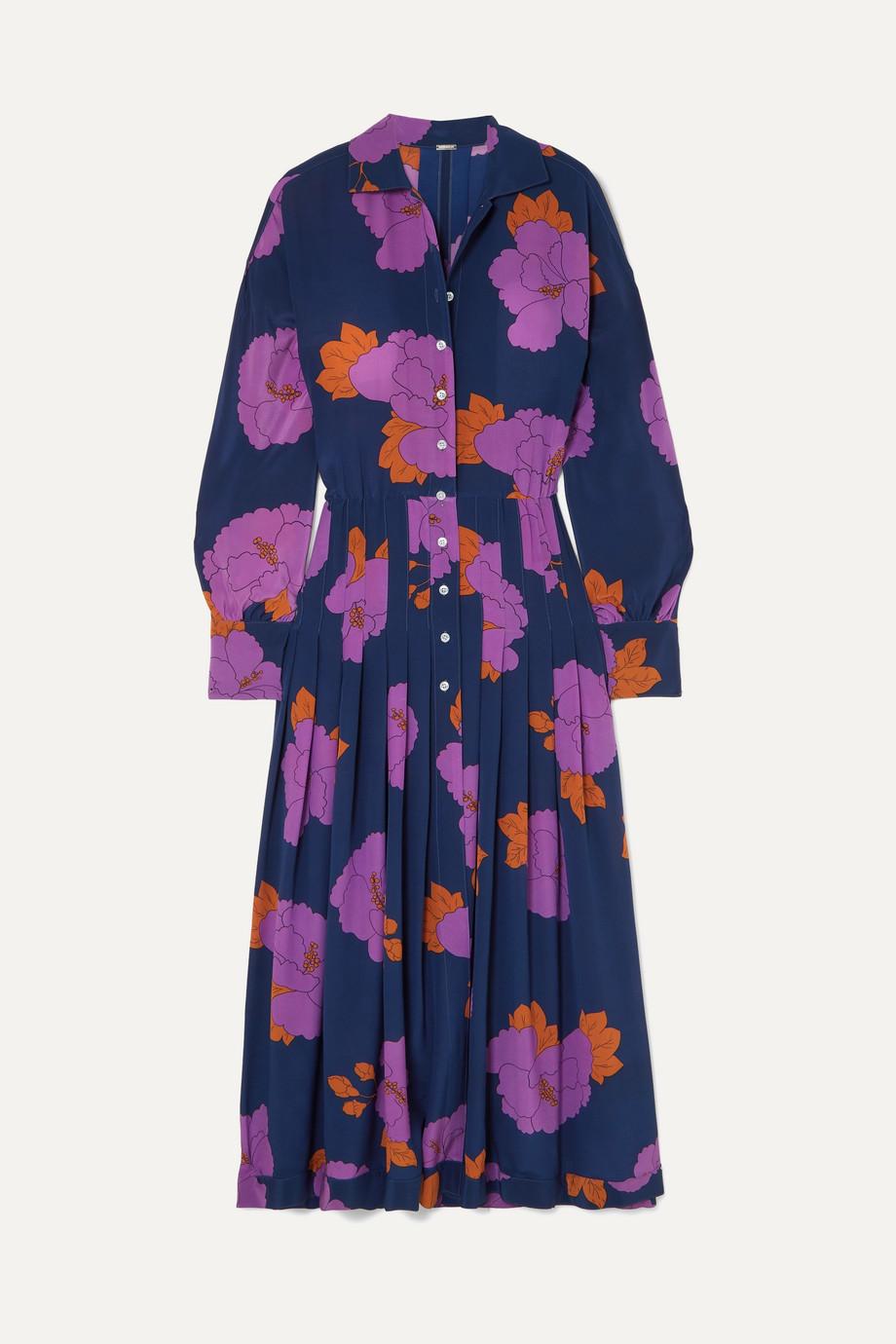 Dodo Bar Or | Anabelle floral-print silk crepe de chine midi dress | NET-A-PORTER.COM