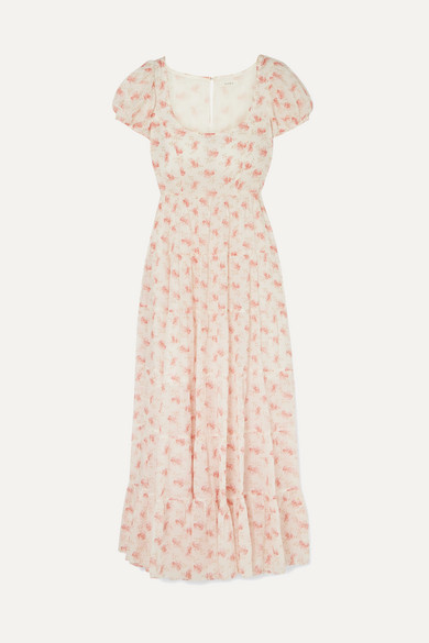 Ruby Tiered Floral Print Cotton Voile Maxi Dress by DÔen