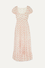 DÔEN Ruby tiered floral-print cotton-voile maxi dress