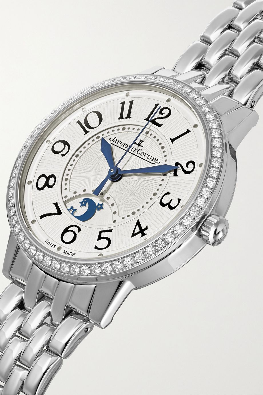 Jaeger-LeCoultre Rendez-Vous Night & Day 34mm medium stainless steel and diamond watch
