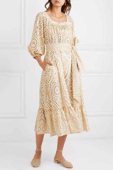 Laure broderie anglaise cotton jumpsuit