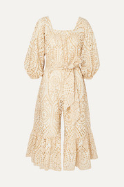 Laure broderie anglaise cotton jumpsuit