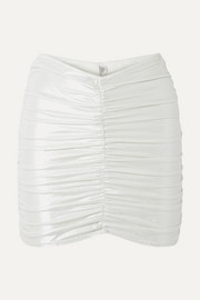 Lisa Marie Fernandez Ruched metallic swim skirt