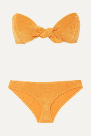 Lisa Marie Fernandez Poppy knotted cotton-blend terry bikini