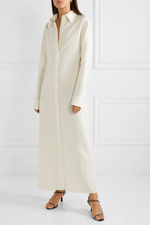Deveaux Nye linen shirt dress