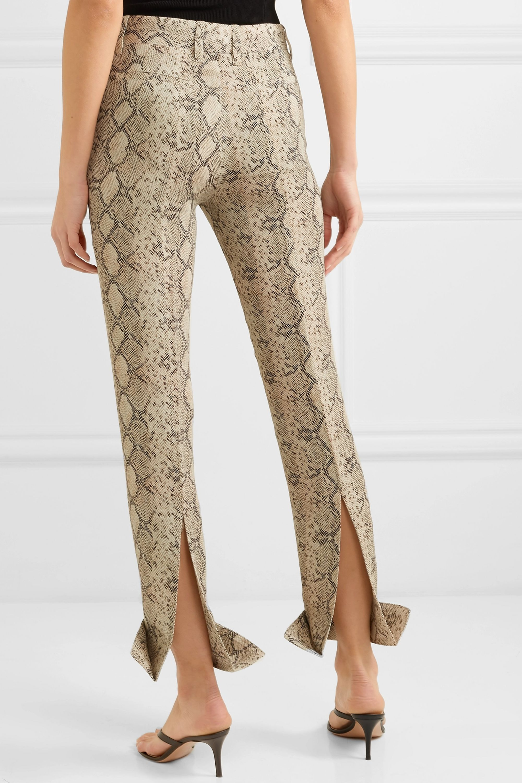 Rokh Snake-print straight-leg crepe pants