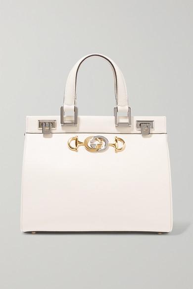 b1f4308da Gucci | Zumi small embellished textured-leather tote | NET-A-PORTER.COM