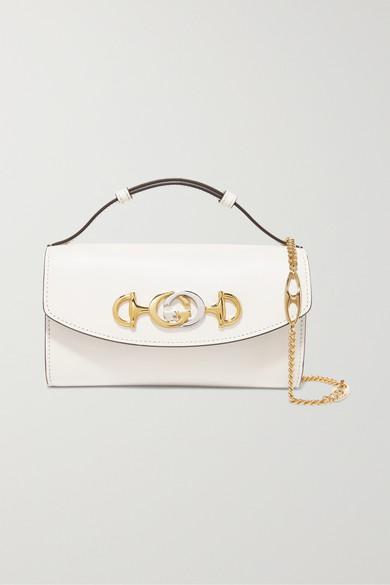 498beac05b49 Gucci | Zumi mini leather shoulder bag | NET-A-PORTER.COM