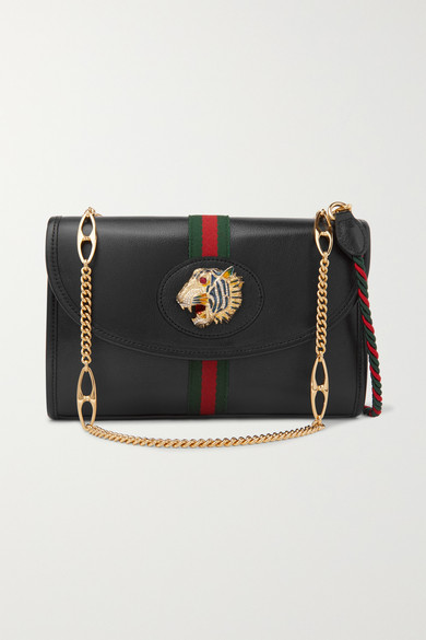 692114e3029 Gucci. Rajah small embellished leather shoulder bag