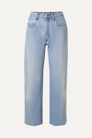 E.L.V. Denim + NET SUSTAIN The Twin Boyfriend hoch sitzende Jeans mit geradem Bein