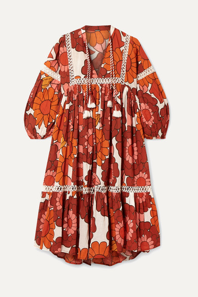 Dodo Bar Or.Nell Floral Print Cotton Voile Dress