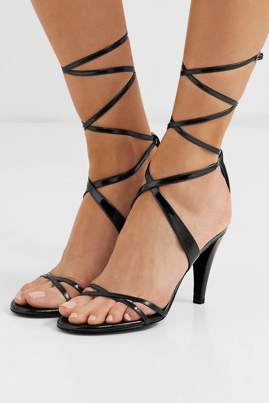 Isabel Marant Aldey 金属感皮革凉鞋