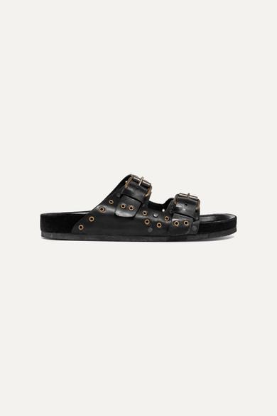 Isabel Marant Slippers Lennya embellished leather slides