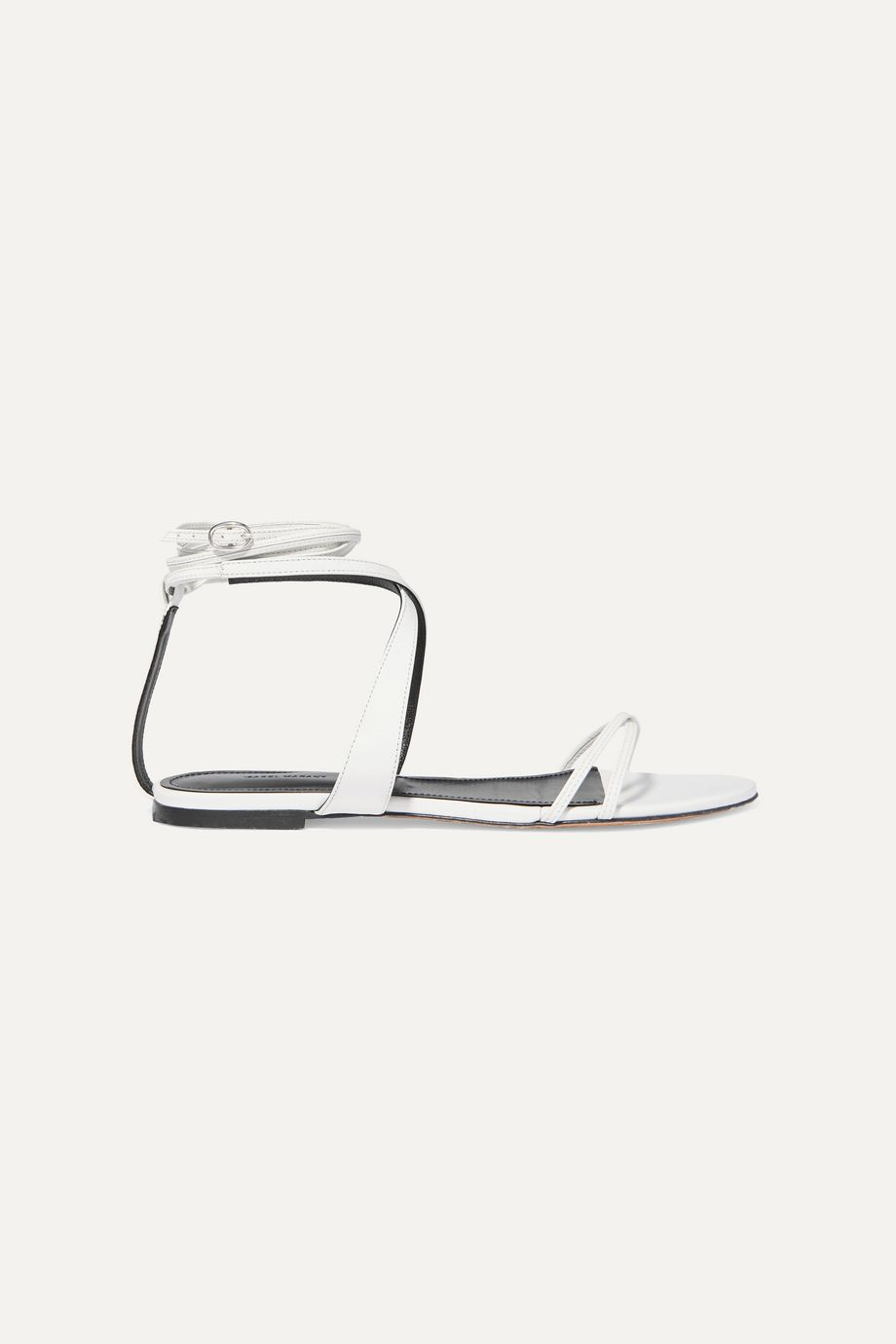 Isabel Marant Afby glossed-leather sandals