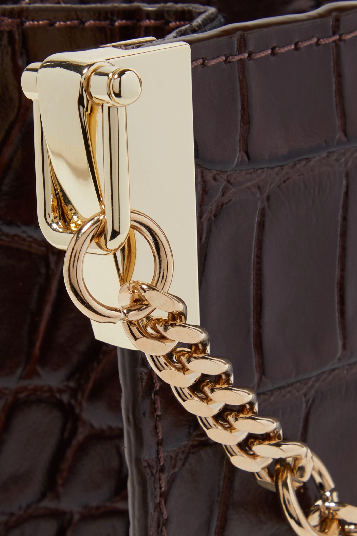 Chylak Glossed croc-effect leather shoulder bag