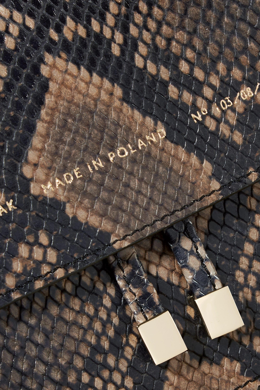 Chylak Schultertasche aus Leder mit Schlangeneffekt