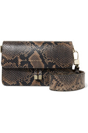 Chylak Snake-effect leather shoulder bag