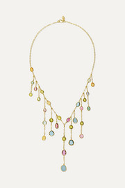 18-karat gold tourmaline necklace
