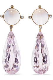 Fred Leighton Collection 18-karat gold multi-stone earrings