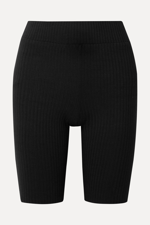 calé Emma Shorts aus geripptem Stretch-Jersey