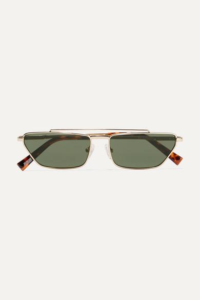 9ff0a118c13 Le Specs. Electricool square-frame gold-tone and tortoiseshell acetate  sunglasses