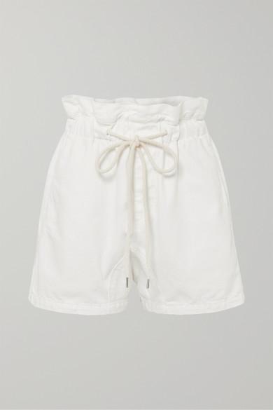 BASSIKE | Bassike - Denim Shorts - White | Goxip