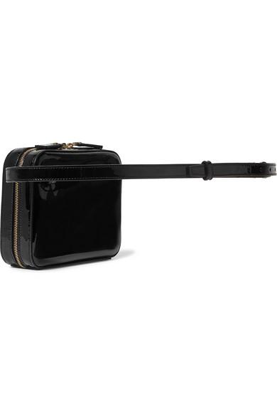 Saint Laurent Belt Vicky quilted patent-leather belt bag