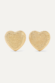 Heart 18-karat gold earrings