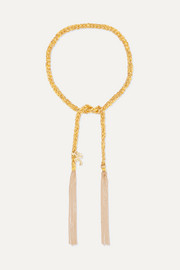 Carolina Bucci Travel Lucky 18-karat gold and silk bracelet