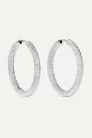 Carolina Bucci Florentine 18-karat white gold hoop earrings