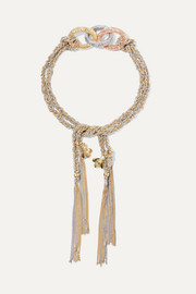 Carolina Bucci Lucky 18-karat yellow, rose and white gold bracelet
