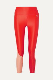 Cutshot two-tone stretch leggings