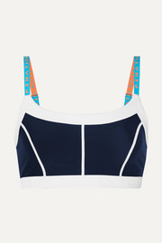 Quater Force paneled stretch sports bra