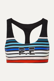 Resurgence striped stretch sports bra