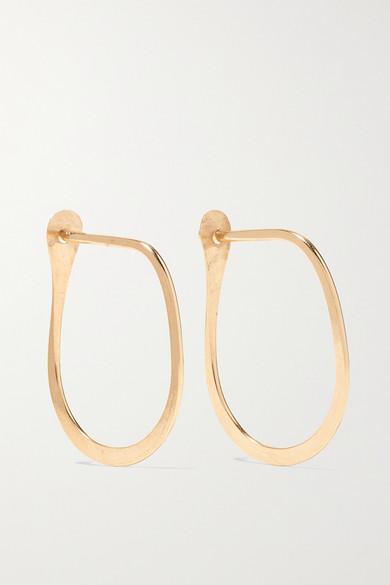 Melissa Joy Manning Teardrop 14 Karat Gold Hoop Earrings Net A