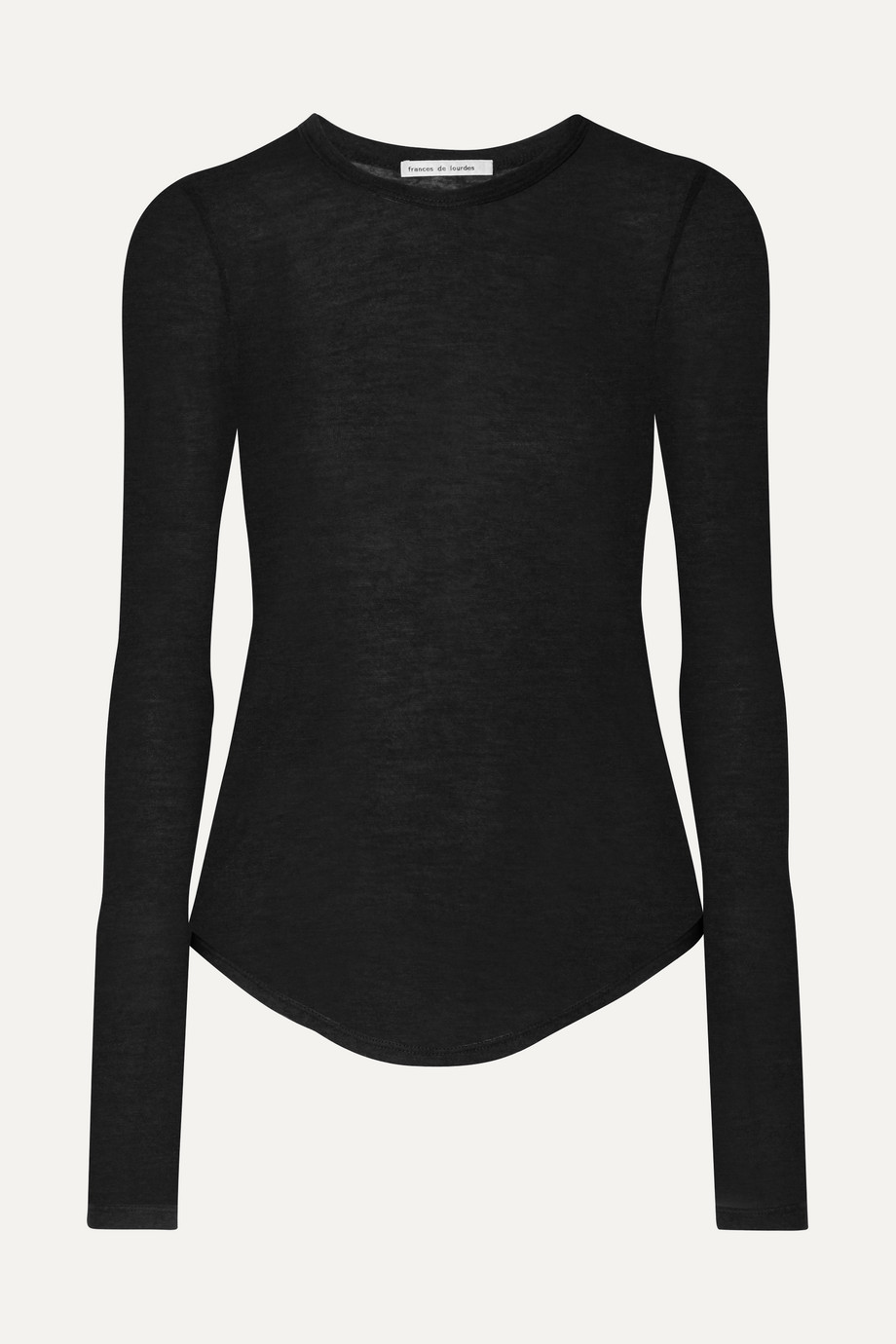 Frances de Lourdes Romy slub cashmere and silk-blend top